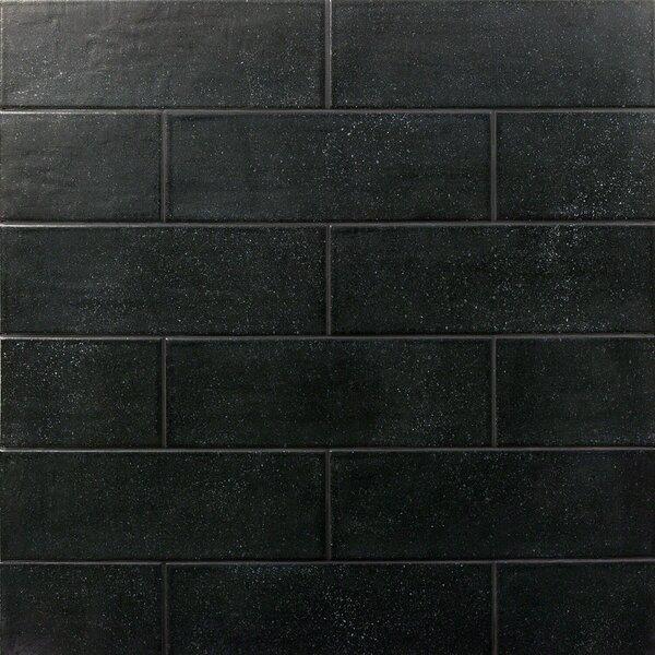 Piston Camp Rock 4 x 12 Porcelain Subway Tile in Black by Splashback Tile