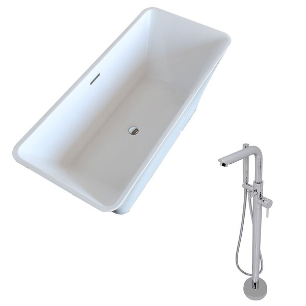 Arden 66.5 x 29.4 Freestanding Soaking Bathtub by ANZZI