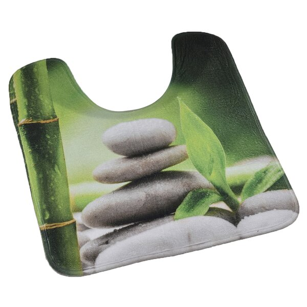 Zen and Co Pedestal Mat Toilet Contour Mat by Evideco
