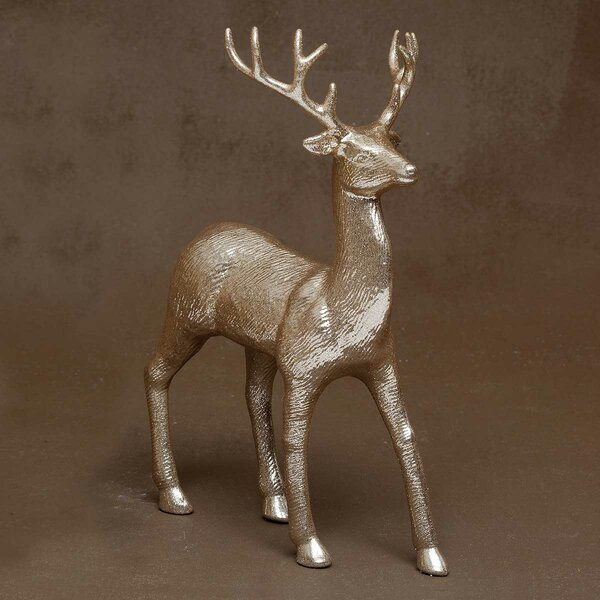 Champagne Prancing Deer Figurine by The Holiday Aisle