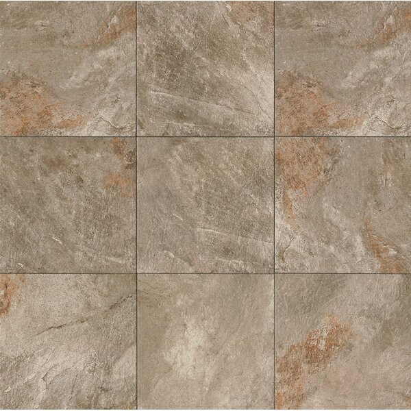 Rok 13 x 13 Porcelain Field Tile in Antracite by Bedrosians