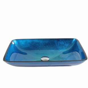 Compare & Buy Glass Rectangular Vessel Bathroom Sink By Arsumo