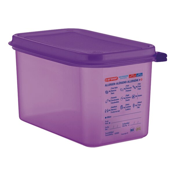 Anti Allergen 145.28 Oz. Food Storage Container (Set of 6) by Araven