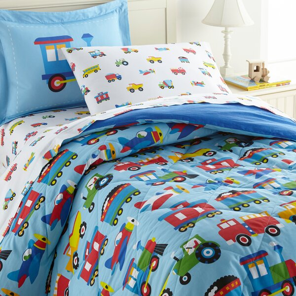 Trains, Planes and Trucks Cotton Comforter Set