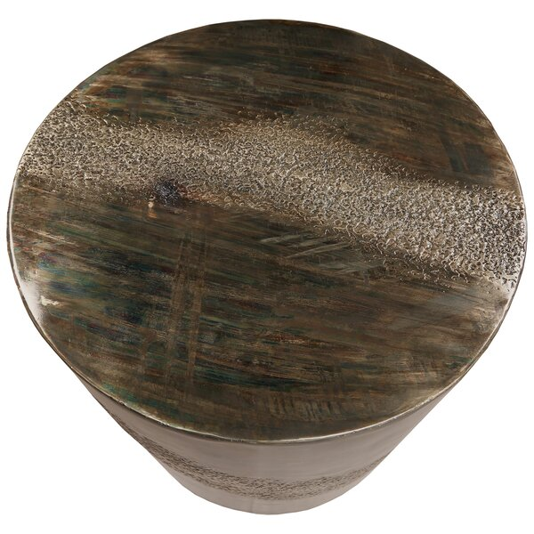 Mccully Marble Top Drum End Table By 17 Stories
