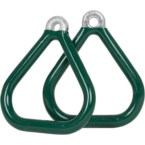 Commercial Coated Triangle Trapeze Rings (Set of 2) (Set of 2) by Swing Set Stuff