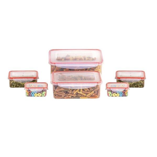 Klimetz BPA Free Plastic 12 Container Food Storage Set by Rebrilliant