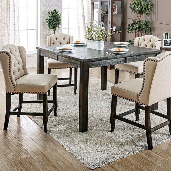 Huey 5 Piece Counter Height Dining Set by Canora Grey