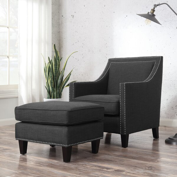 Rotterdam Armchair and Ottoman by Three Posts Three Posts