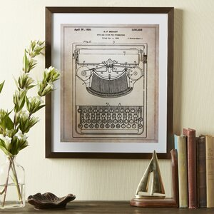 Typewriter Framed Blueprint by Birch Lane™
