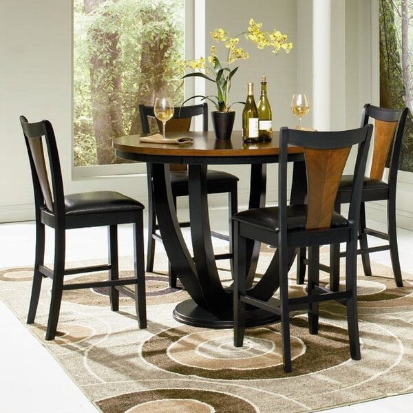 Sarris 5 Piece Dining Set by Bloomsbury Market