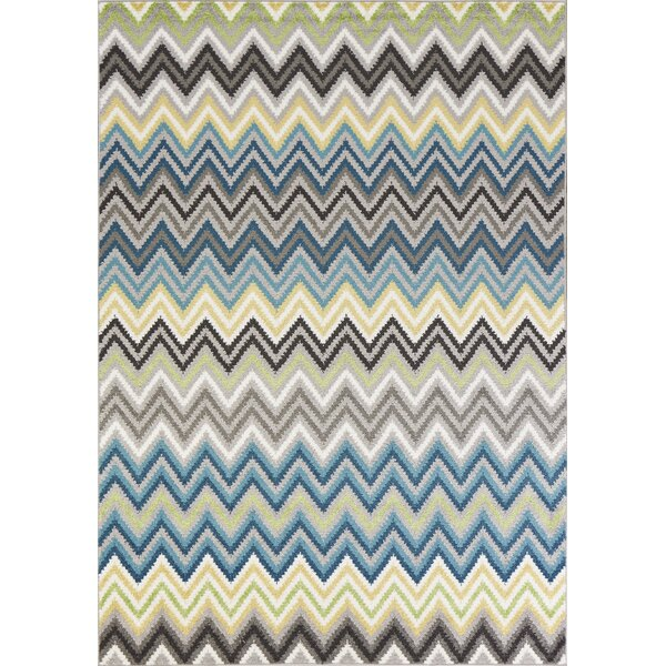 Harshbarger Blue/Ivory Area Rug by Ebern Designs