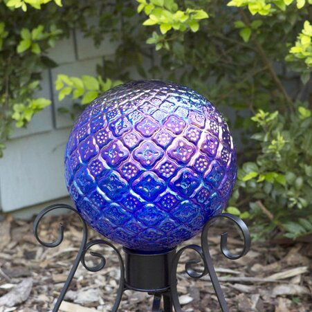 10 Translucent Blue Embossed Gazing Globe by Echo Valley