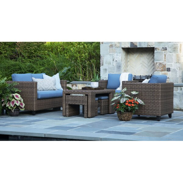 Dayanara Pepperidge Lounge Sunbrella Seating Group With Cushions By Rosecliff Heights
