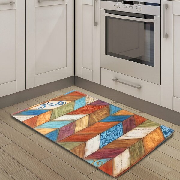 Weston Anti Fatigue Embossed Kitchen Mat by Fleur De Lis Living
