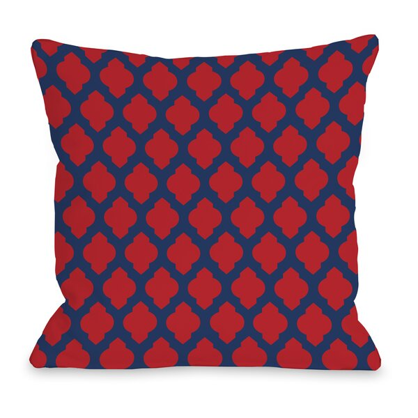 All Over Moroccan Throw Pillow by One Bella Casa