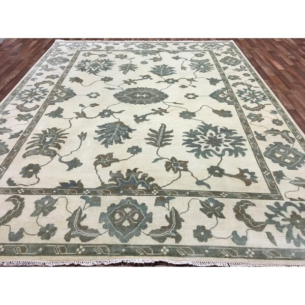 One-of-a-Kind Craner Oushak Hand-Woven Wool Beige/Brown/Blue Area Rug by Isabelline