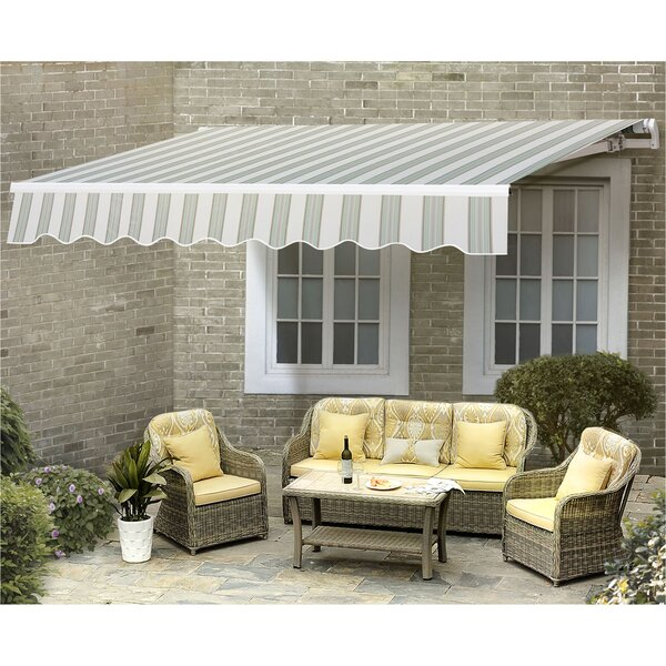 Manual 10ft. W x 8ft. D Retractable Window & Door Awning by Sunjoy