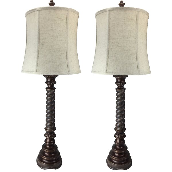 Swirl 38 Table Lamp (Set of 2) by Immacu-Lamps