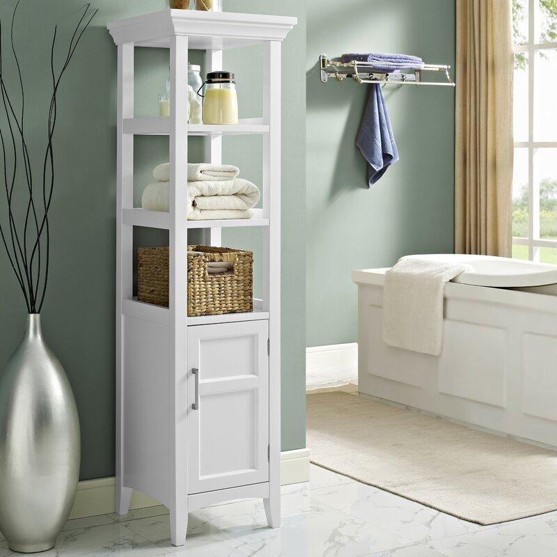 bathroom counter storage tower. Avington 15 75  W x 56 25 H Linen Tower Cabinets Towers You ll Love Wayfair