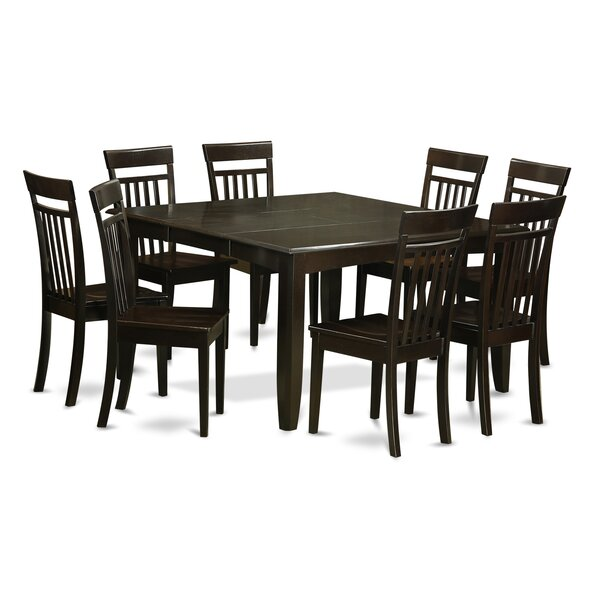Pilning 9 Piece Wood Dining Set by August Grove