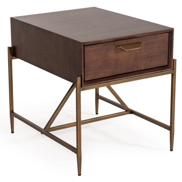 Palmona End Table With Storage By Wrought Studio