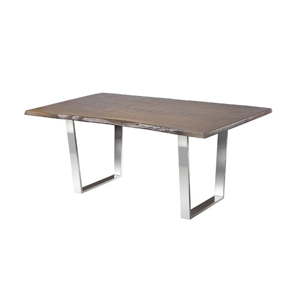 Ceballos Live Edge Wood Grain Detailed Dining Table by Orren Ellis