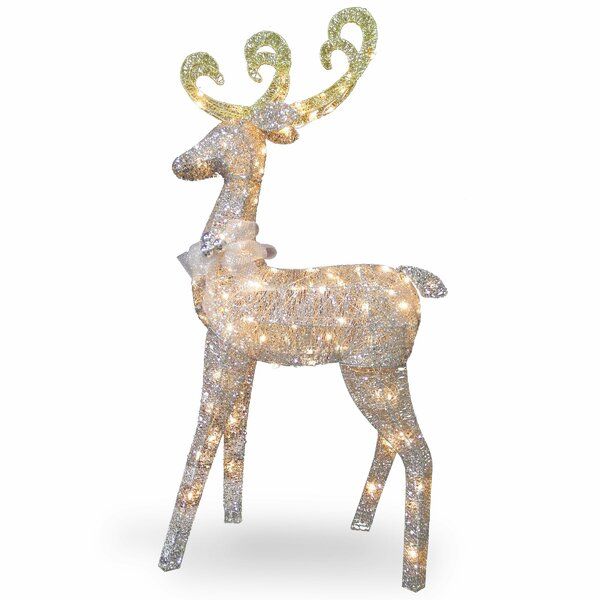 Crystal Standing Deer Christmas Decoration by The