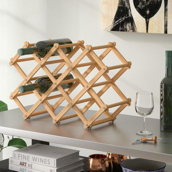 Morrissey 10 Bottle Tabletop Wine Bottle Rack by Andover Mills Andover Mills
