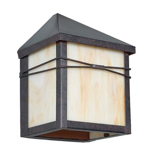 Reviews Mission 1-Light Outdoor Flush Mount By Sunset Lighting