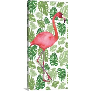 Tropical Flamingo I Painting Print on Wrapped Canvas by Great Big Canvas