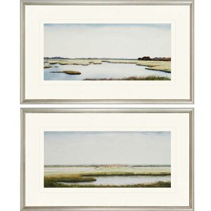 'Marshlands I' 2 Piece Framed Painting Print Set by Darby Home Co
