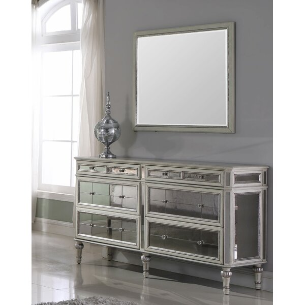 Kathryn 6 Drawer Double Dresser with Mirror by Rosdorf Park
