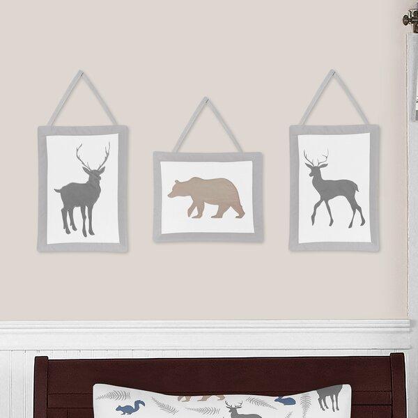 Woodland Animals 3 Piece Wall Hanging Art Set by Sweet Jojo Designs