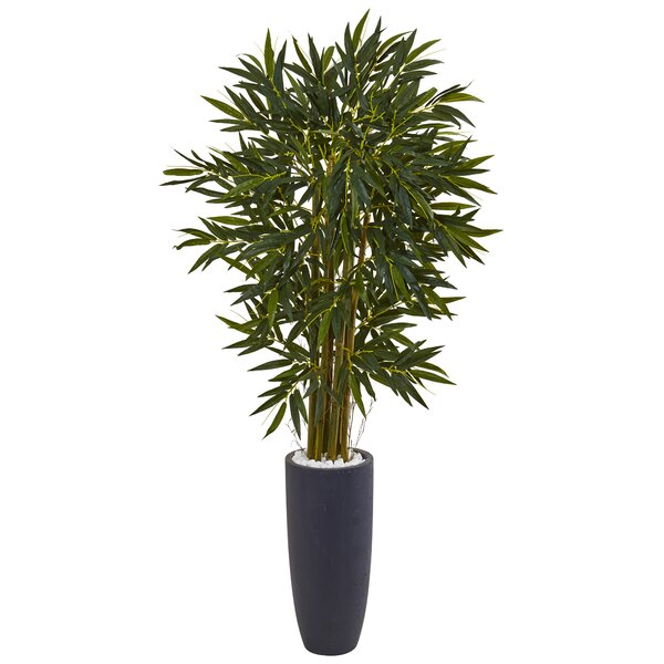 Artificial Floor Plastic Bamboo Tree in Planter by Bloomsbury Market