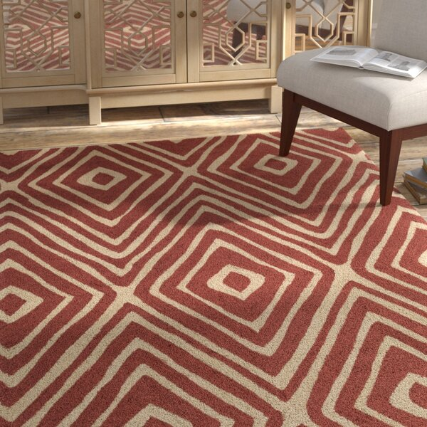 Juhasz Hand-Tufted Red/Beige Area Rug by Bloomsbury Market