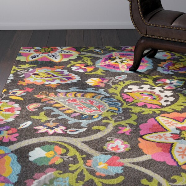 Hayes Brown Area Rug by World Menagerie