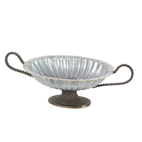 Galvanized Oval Decorative Bowl by Cole & Grey