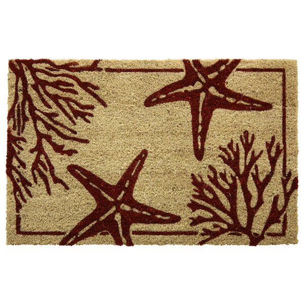 Corbridge Bleach Coral Starfish Doormat by Highlan