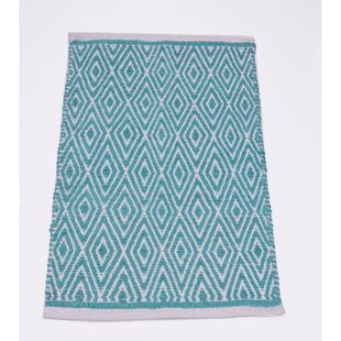 feature Top Fortin Turquoise Blue Indoor/Outdoor Area Rug By Bungalow Rose