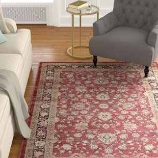 Read Reviews Connors Farahan Amulet Red /Black Area Rug By Charlton Home