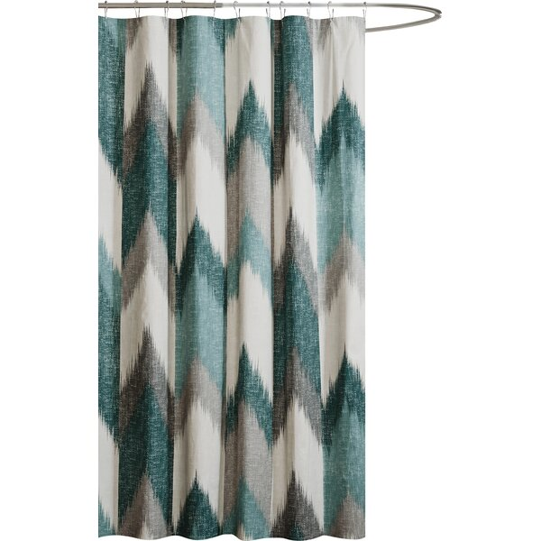 Mcshan Cotton Printed Shower Curtain by Mercury Row
