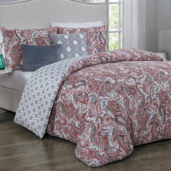 Thornburg 5 Piece Reversible Comforter Set by Alcott Hill