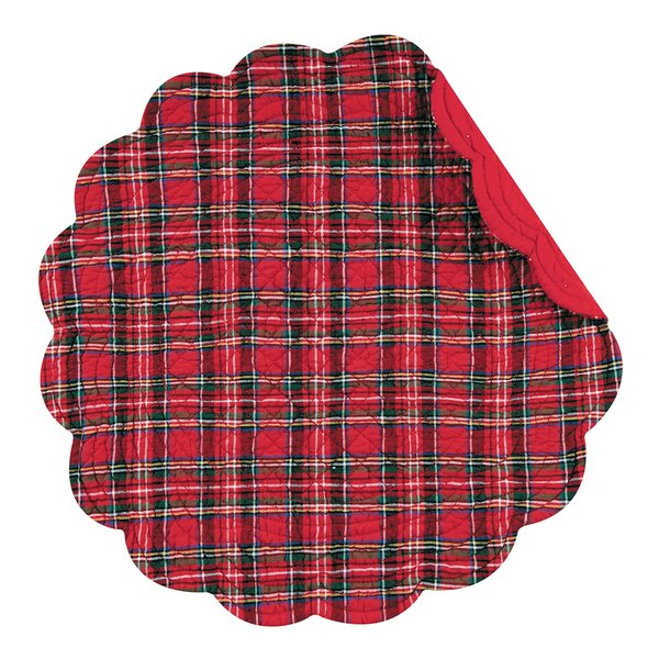 Round Plaid Quilted Placemat (Set of 6) by The Holiday Aisle
