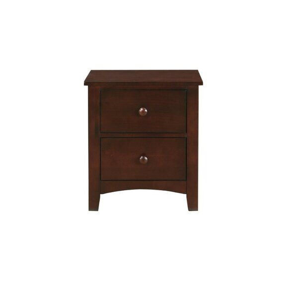 Zapata 2 Drawer Nightstand by Breakwater Bay