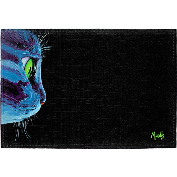 Green-Eyed Cat Placemat (Set of 2) by East Urban Home