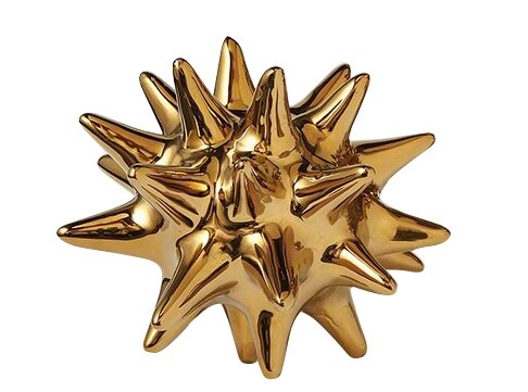 Urchin Shiny Gold Object By Dwellstudio.