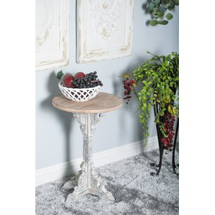 Chadwin Traditional Round Wood End Table
