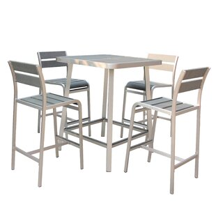 Brava 5 Piece Bar Height Dining Set By Boraam Industries Inc