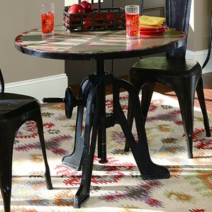 Andrei Adjustable Height Pub Table by 17 Stories